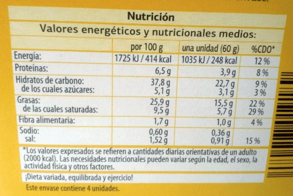 Ruzbeh Bappi Pastel De Arroz Informacion Nutricional